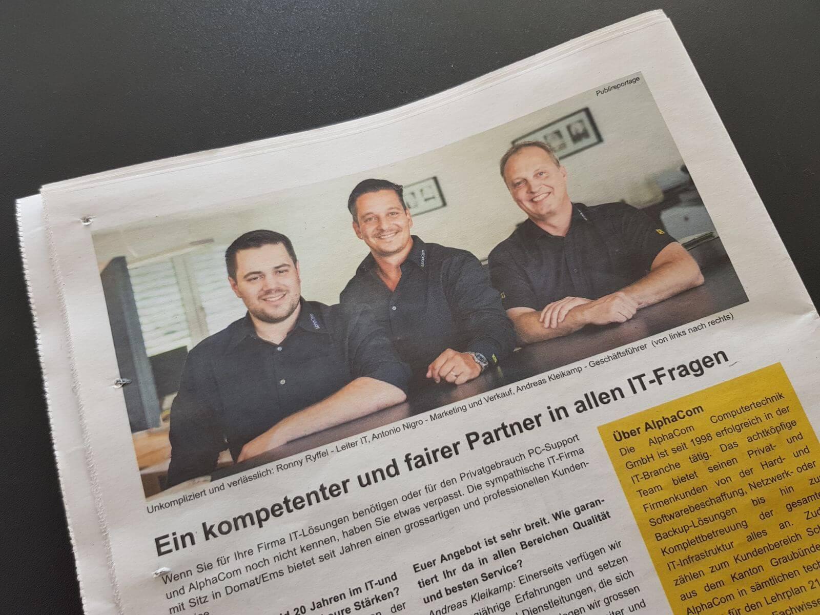 Heute in der Büwo – Ein kompetenter und fairer Partner in allen IT-Fragen