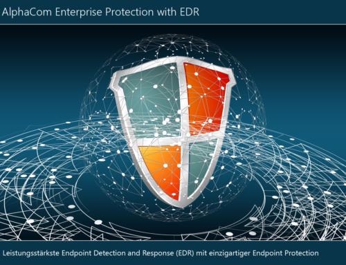 Alphacom Enterprise Protection kombiniert EDR mit branchenweit erstklassiger Endpoint und/oder Server Protection in einer Lösung by Sophos